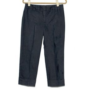 Loft Cropped Cuffed Hem Ann Trouser Denim Pants